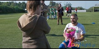 The most amazing wedding proposal in a soccer game at Crete!