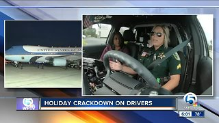 Law enforcement patrolling the roads during holidays - Video