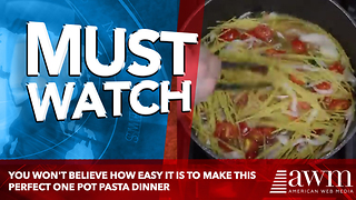 You Won't Believe How Easy It Is To Make This Perfect One Pot Pasta Dinner - Video