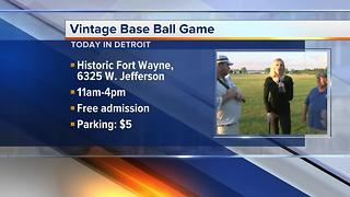 Vintage Base Ball at Historic Fort Wayne - Video