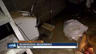 Businesses start to reopen after flooding in Burlington
