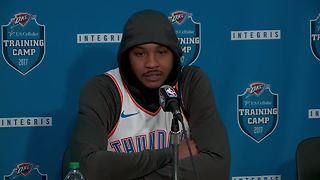 Carmelo Anthony addresses fit with Oklahoma City Thunder at media day - Video