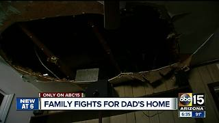 Family attempting to repair home after burned in house fire