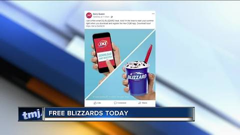 Dairy Queen offers free blizzards