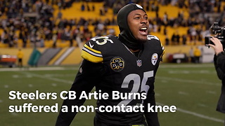 Steelers CB Artie Burns Suffers Non-Contact Injury In Practice - Video
