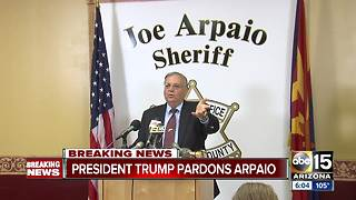 President Trump issues presidential pardon for former MCSO Sheriff Joe Arpaio - Video