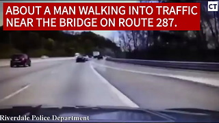 New Jersey Police Officer Rescues Man Attempting Suicide - Video