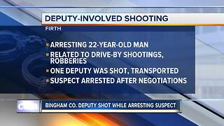 Bingham County deputy shot, wounded during arrest of robbery suspect