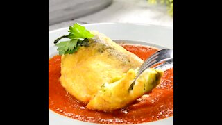 Chile Rellenos with Tomato Soup