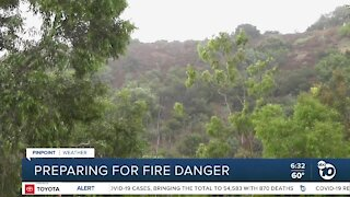 San Diego officials prepare for winds, fire danger
