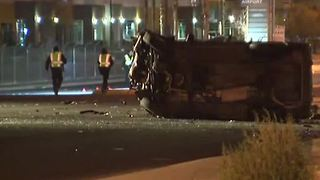 Driver in North Las Vegas rollover crash possibly impaired - Video