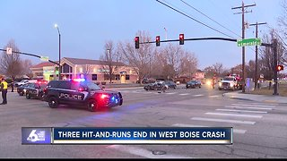Police: Three Meridian hit-and-runs end with west Boise crash