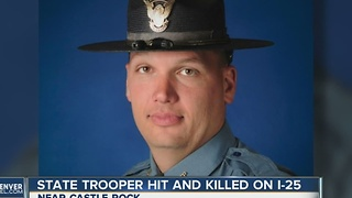 Trooper Cody Donahue killed in crash on I-25 south of Castle Rock - Video