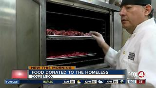 Food donated to the homeless - Video