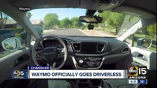 Waymo officially goes driverless - Video