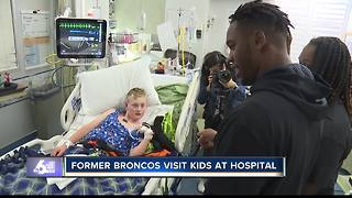Former Boise State players visit St. Luke's