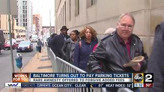 Baltimore turns out to pay parking tickets - Video