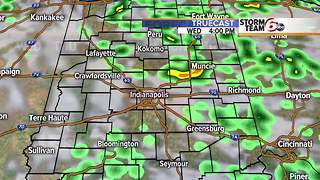 Cool/dry tonight. Showers Wednesday - Video