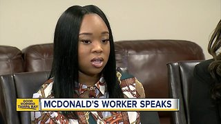 McDonald's employee speaks after being attacked by customer