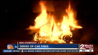 Car fires erupt Tulsa overnight - Video