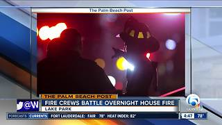 Fire damages Lake Park home - Video