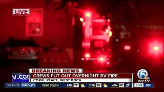 RV fire extinguished in West Boca Raton - Video