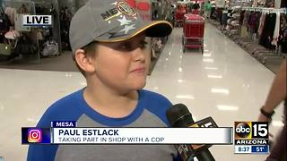 "Children get to ""shop with a cop"" in Mesa - Video"