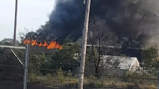 Factory Fire Sends Plumes of Smoke Above Regents Park - Video