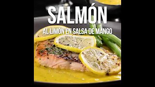 Salmon with Lemon in Mango Sauce