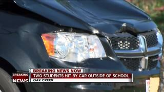 2 Oak Creek High School students hit by car driven by high school staff member