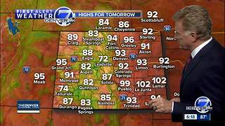 Hot and dry weather across Colorado through the weekend - Video