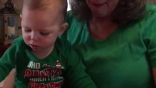 Grandma Can't Hold Back Her Tears During Christmas Surprise