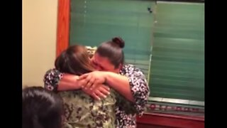 US Soldier Embraced Her Mother During Surprise Homecoming