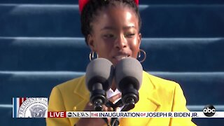 Amanda Gorman makes history as youngest poet inn recent history to read at inauguration