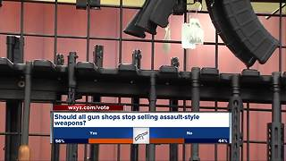 Local gun shop owner says he won't take AR-15 off the shelf - Video