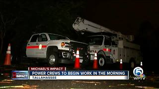 Power crews to begin work in the morning in Tallahassee - Video
