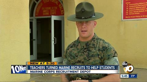 Teachers become Marine recruits to help students