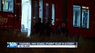 Chaparral High School student killed in trolley accident - Video