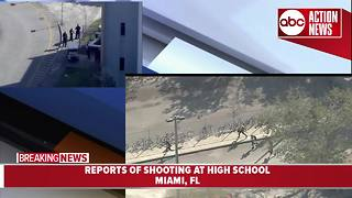 Kids run from school during active shooter situation at high school near Miami, Florida: shooter reportedly still at large