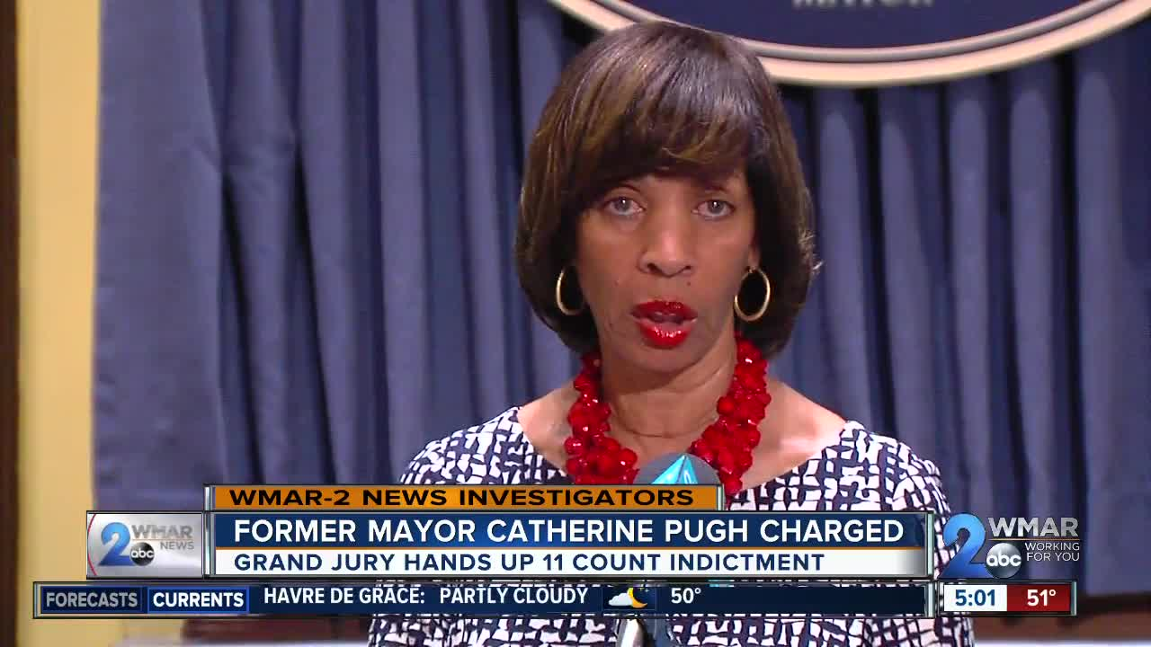 Former Mayor Catherine Pugh indicted on Wednesday