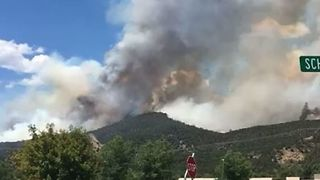 Colorado's Lake Christine Fire Nearly Doubles Size in One Day - Video