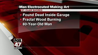 Authorities: Man apparently electrocuted while making art - Video