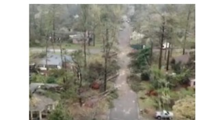 Drone Footage Shows Tornado Damage Across Alabama Town - Video