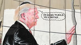Bethlehem Graffiti Mocks Trump's Wall Ambitions - Video