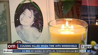 Family of woman, teen killed after tire hits windshield speaksout