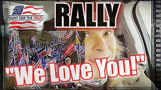 We Love You Chant Thousands in Freedom Plaza Washington DC Trump Rally