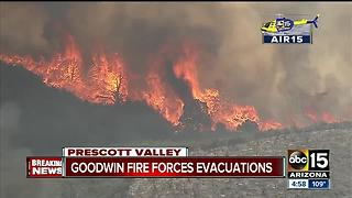 Neighborhoods being evacuated as Goodwin Fire continues to grow