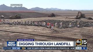 Search for remains of missing Phoenix woman at Buckeye landfill continues - Video