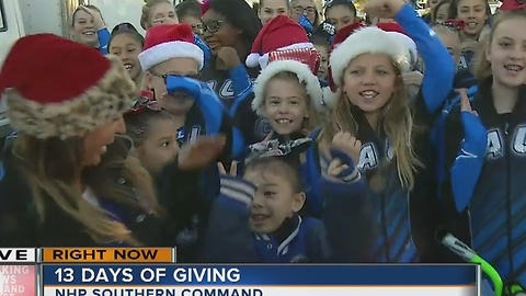 California All-Stars bring spirit and toys to #13Days of Giving