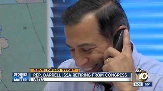 Rep. Darrell Issa says he won't seek re-election - Video